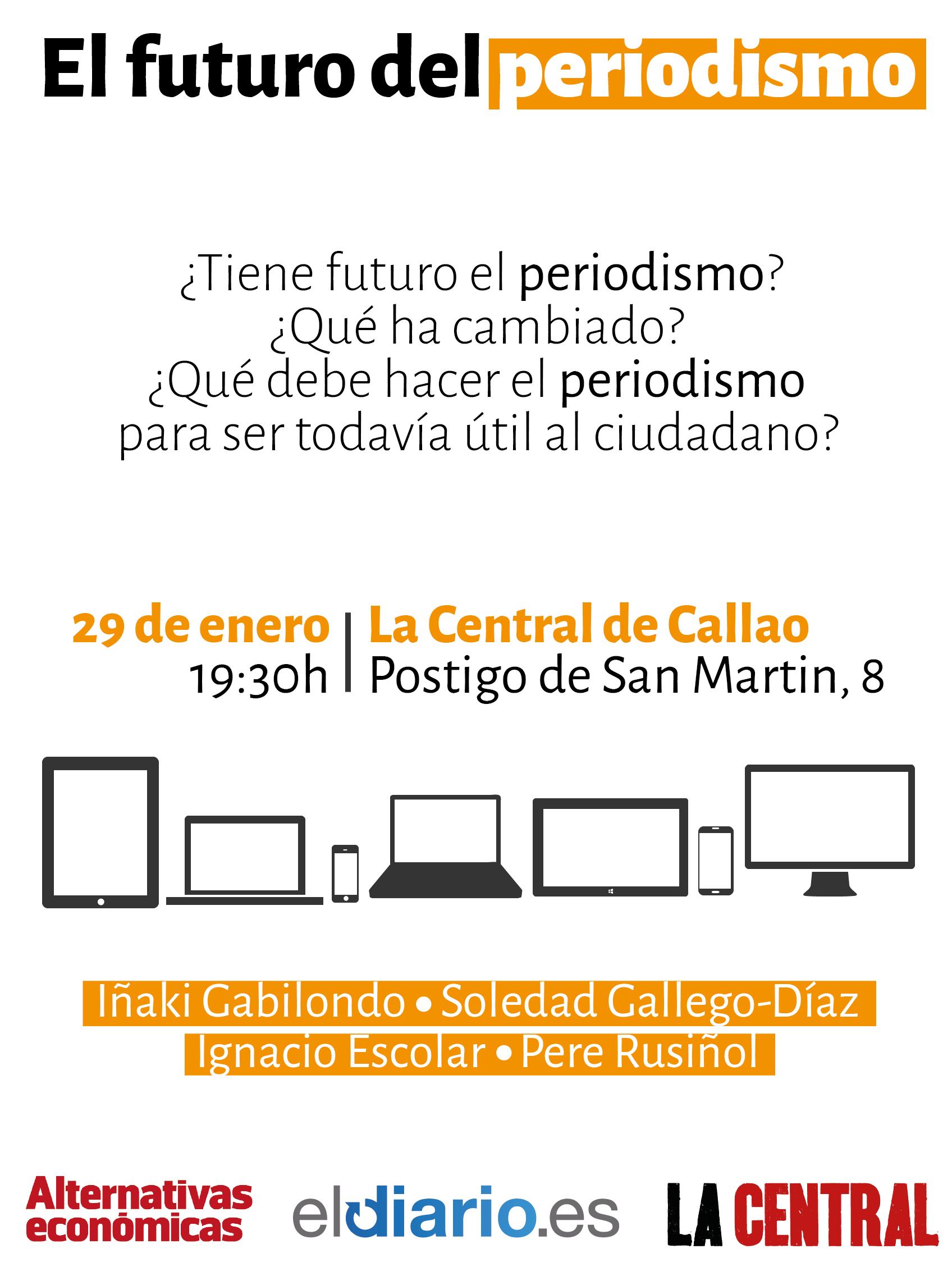 """Foto artículo: Debate """"El futuro del Periodismo"""" junto a Iñaki Gabilondo, Soledad Gallego-Díaz e Ignacio Escolar"""